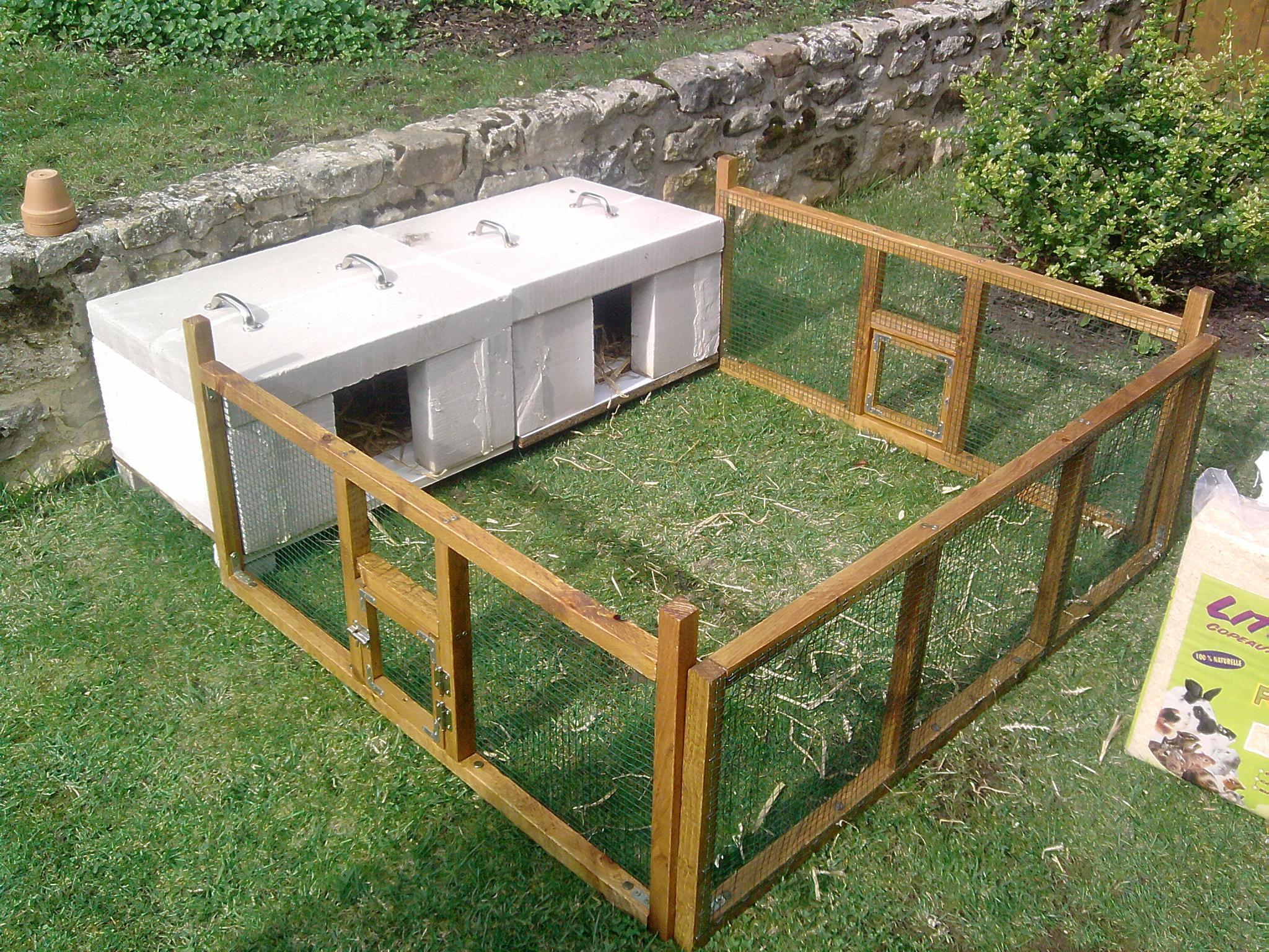 construction d un clapier en bois. Black Bedroom Furniture Sets. Home Design Ideas